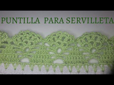 PUNTILLAS PARA SERVILLETAS #40 PUNTILLAS SÚPER FÁCILES