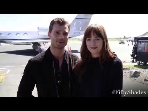 Jamie Dornan, Dakota Johnson - Fifty Shades Facebook message