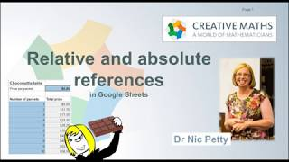 Spreadsheets with Dr Nic: Relative and Absolute References
