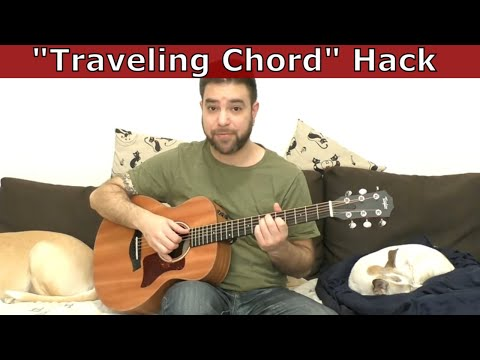 Guitar Hack: The Travelling Chord Shape Method (4 Examples) - Lesson Tutorial