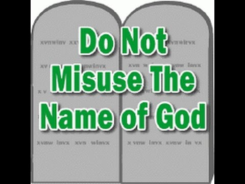 the consequences of taking gods name in vain Pastor mark driscoll of mars hill church in seattle, wash, shared this weekend the third message of a series of sermons on ten commandments, telling the congregation about four common, yet unexpected, ways we take god's name in vain.