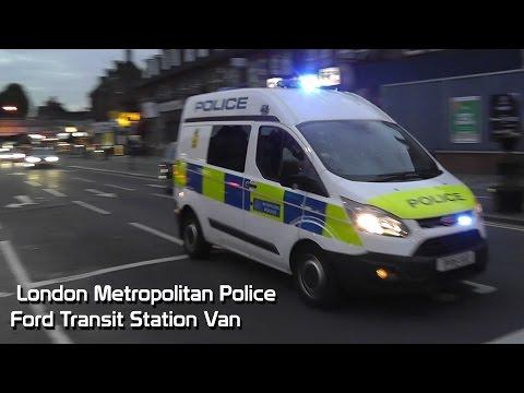 Metropolitan Police Ford Transit Station Van responding