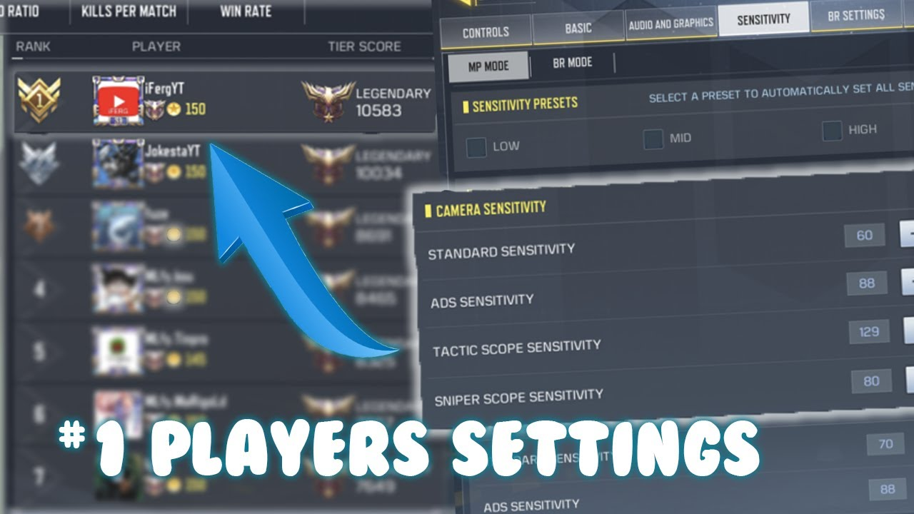 Best Settings For Call Of Duty Mobile Sensitivity Basic