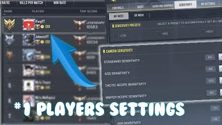#1 RANKED PLAYER BEST SETTINGS + HUD! Call Of Duty: Mobile Global ( COD MOBILE )