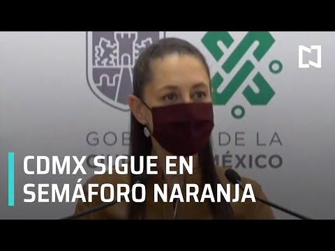 Ciudad de México continúa en semáforo naranja por COVID-19