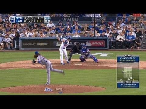 NYM@LAD Gm1: deGrom ties Seaver with 13th K of game