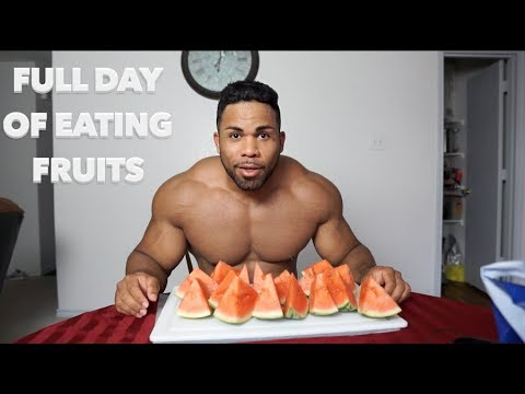 Full Day of Eating Fruits | Chest and Shoulder Workout | 8 Weeks Out | HCLF Vegan