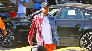 Tyga Looks Upset When Asked If He's Split With Kylie Jenner