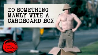 Do Something Manly With A Cardboard Box | Full Task | Taskmaster