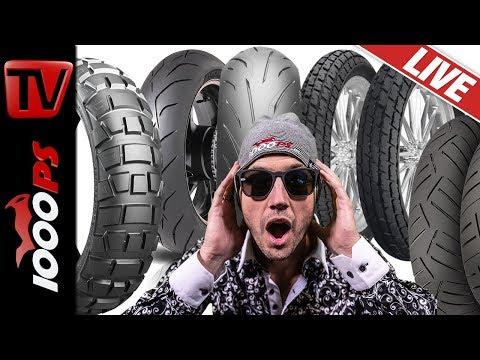 Motorrad Reifen Beratung - Live Übersicht, Vergleich, Überblick Neuheiten 2019