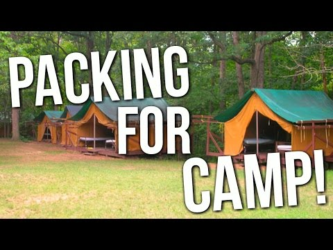 PACKING FOR SUMMER CAMP!!