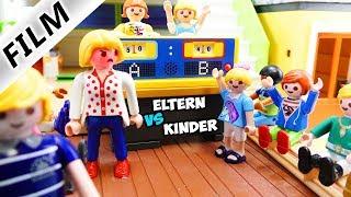 Playmobil Film Deutsch ELTERN VS. KINDER: DAS QUIZDUELL + POOL-STRAFE! JULIAN VS. PAPA Familie Vogel