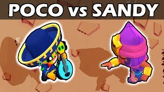 POCO vs SANDY | 1vs1 | Brawl Stars
