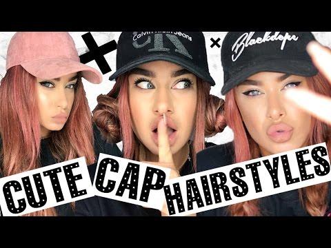 Cute Cap Hairstyles - How to wear baseball caps 5 ways - YouTube 84c45a0b853