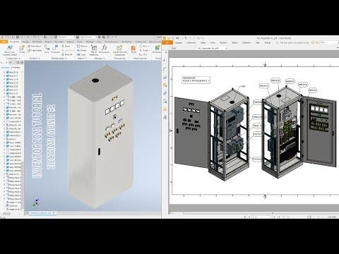 Autodesk Inventor 2021 Tutorial E13 - Electrical cabinet #2