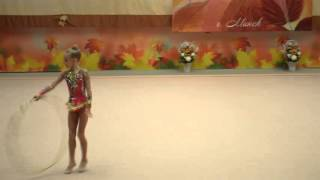 Соревнования по художественной гимнастике. Обруч.