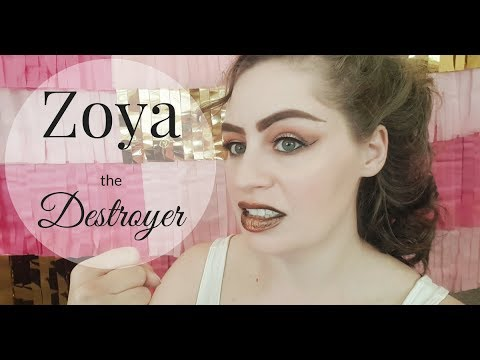 LIVE HALLOWEEN TUTORIAL | ZOYA THE DESTROYER FROM G.L.O.W. | GREEN + ECO + NATURAL + CRUELTY-FREE
