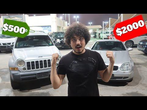 Dubai Very Cheap Used Car Market  ''$500 Vs $2000'' ( Jeep / Mercedes )