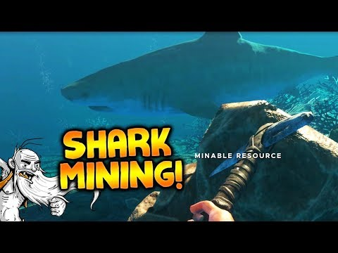 LET'S GO SHARK MINING!!! - Let's Play Stranded Deep Gameplay