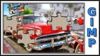 Gimp: jigsaw puzzle effect