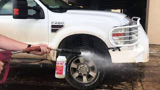 Dirty Truck Turns White with Hotsy Pressure Washer