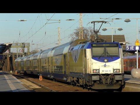 Celle mit der S-Bahn Hannover (ET 424, 425), dem Metronom (BR 146.2), ICE 1 und T, IC und Güterzüge