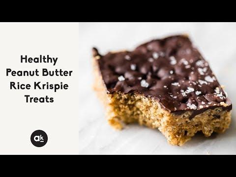 Healthy Peanut Butter Rice Krispie Treats