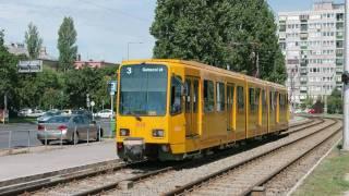 Straßenbahn Budapest : Der Typ DUEWAG Tw6000 ex-Hannover [1080p]
