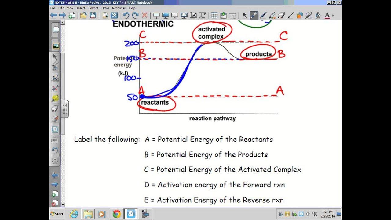 Physics Energy Flow Diagram Bt Openreach Master Socket 5c Wiring Kinetics Thermodynamics And Equilibrium Endothermic