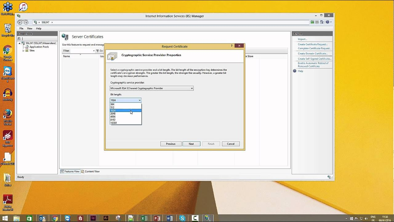 Creating Your Ssl Certificate Csr On Windows 8 Microsft Iis8 Youtube