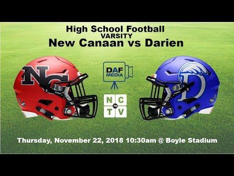Darien Varsity Football Vs New Canaan Youtube