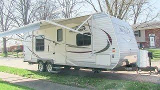 2014 Jayco Jay Flight 22FB Elite travel trailer camper walk-around tutorial video.