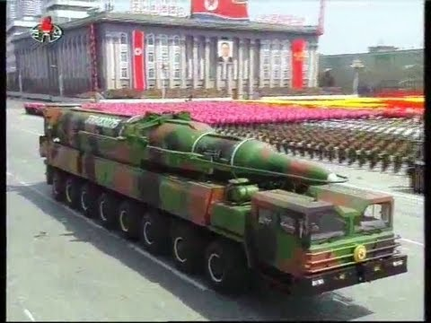 KCTV - North Korea Military Parade 2012 - Short, Medium & Long Range Missiles [480p]