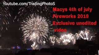 Macy's 4th of July fireworks 2019 Full Exclusive unedited video NYC