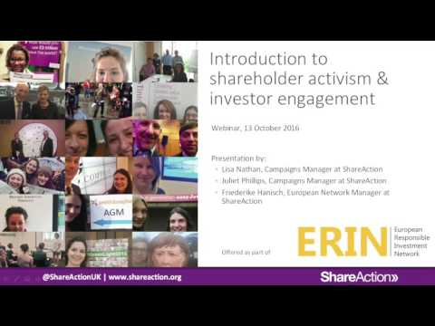 Intro to Shareholder Activism