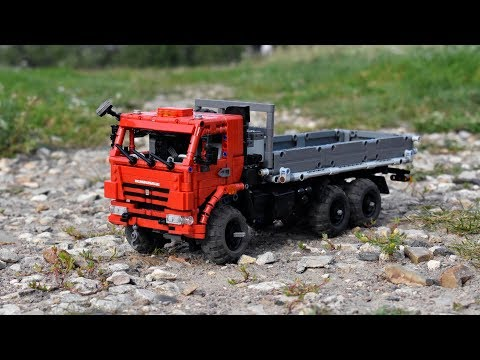 Lego Technic KAMAZ 43118 flatbed truck with SBrick