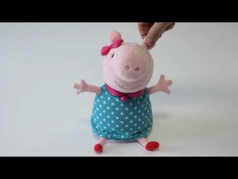 Видео с игрушками: Свинка Пеппа! Новая серия: мама свинки Пеппы шьёт фартук! Мягкие игрушки.