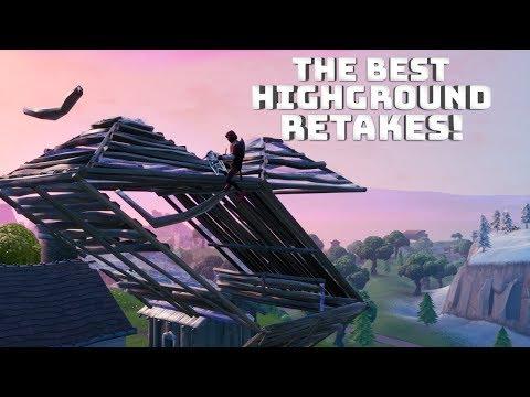 The BEST Highground Retakes! - (Fortnite Building Tips)