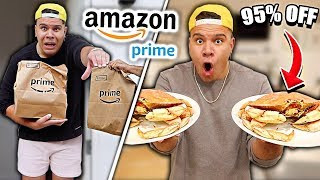 I Only Ate Foods From AMAZON PRIME For 24 hours! (impossible food challenge)