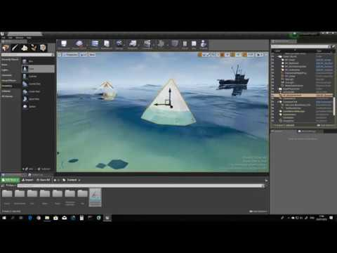 UE4 - WIP Community FREE Ocean Project - adding buoyancy to actors