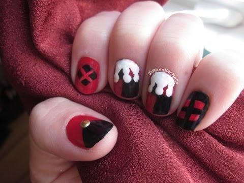 Harley Quinn Nail Art Youtube