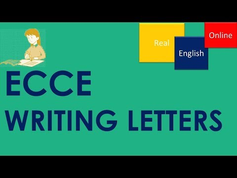 WRITING LETTERS- ECCE