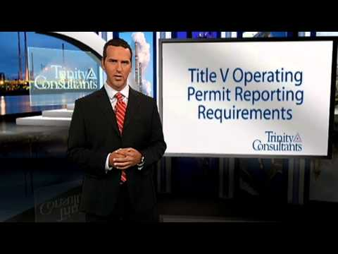 Title V Operating Permit Reporting Requirements