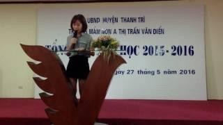 Phụ Huynh phát biểu tổng kết năm học 2015-2016