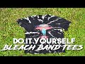 DIY: HOW TO // BLEACHED & DISTRESSED GRUNGE BAND T-SHIRTS 2016 // FREE GIVEAWAY //