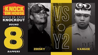 ZEESKY vs VANGOE (8 RAPPERS - YELLOW #2) | KNOCK 'EM HOUSE