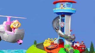 Paw Patrol Unboxing: Feuerwehrmann Marshall & My Size Lookout Tower für Kinder deutsch