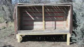 Chicken Coop Built With Recycled Materials