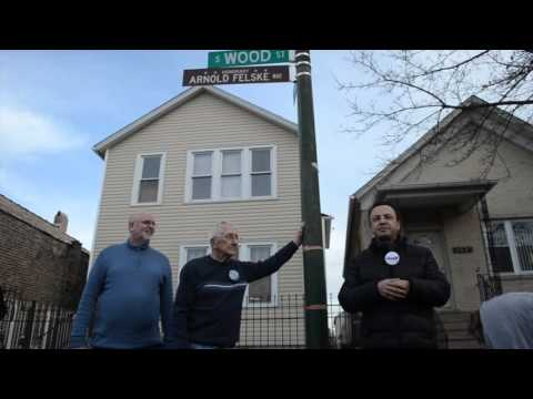 Unveiling of Honorary Street Sign for Arnold Felske