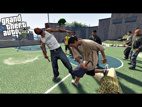 JOINING A GANG - HUGE BRAWL!! (GTA 5 Mods)